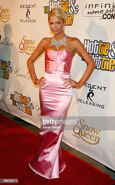 Actress Paris Hilton arrives at the premiere for The Hottie The Nottie held at the Egyptian Theatre on February 4 2008 in Hollywood California