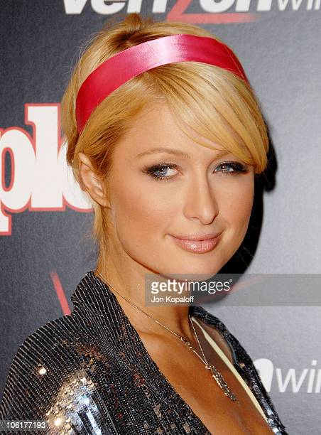 Actress Paris Hilton arrives to the Verizon Wireless People Magazine's PreGrammy Party at Avalon Hollywood on February 8 2008 in Hollywood California