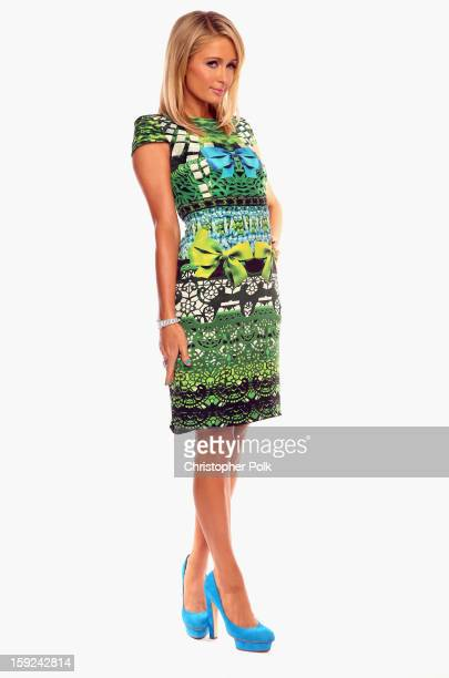 Actress Paris Hilton poses for a portrait during the 39th Annual People's Choice Awards at Nokia Theatre LA Live on January 9 2013 in Los Angeles...