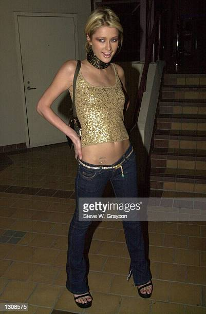 """Actress Paris Hilton poses for photographers at the premiere of """"Animal Factory"""" based on the book of the same name by former San Quentin inmate..."""