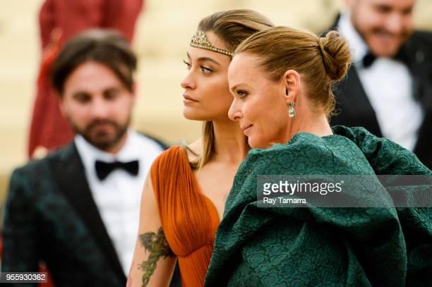 Actress Paris Jackson and fashion designer Stella McCartney enters the Heavenly Bodies Fashion The Catholic Imagination Costume Institute Gala at The...