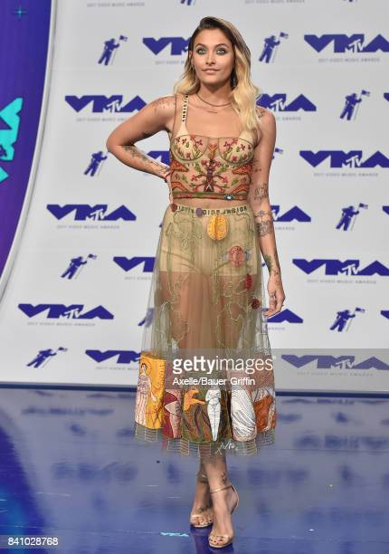 Actress Paris Jackson arrives at the 2017 MTV Video Music Awards at The Forum on August 27 2017 in Inglewood California