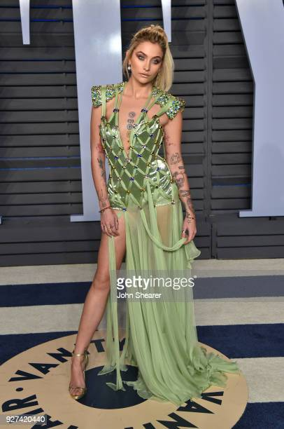Actress Paris Jackson attends the 2018 Vanity Fair Oscar Party hosted by Radhika Jones at Wallis Annenberg Center for the Performing Arts on March 4...