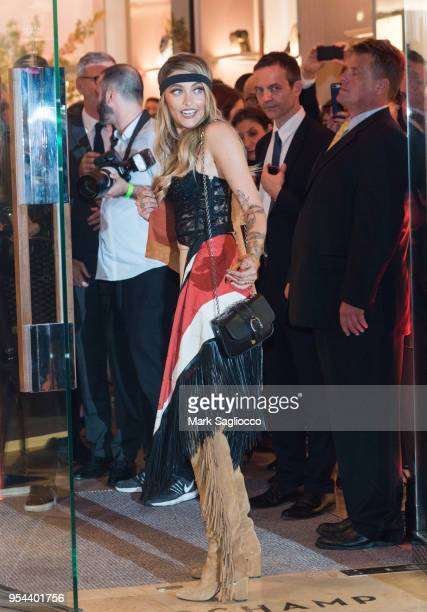 Actress Paris Jackson attends the Longchamp Opening at Longchamp Fifth Avenue on May 3 2018 in New York City