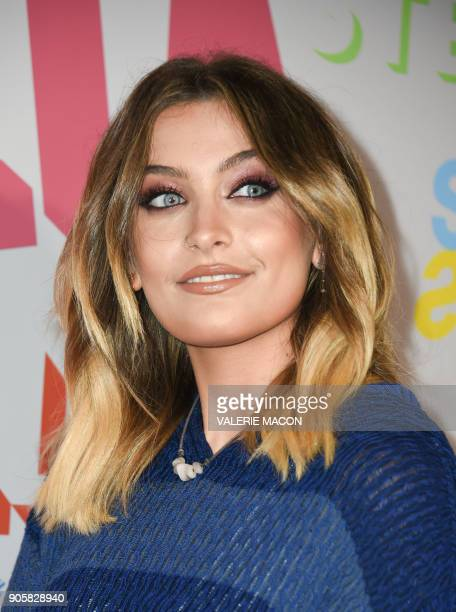 Actress Paris Jackson attends the Stella McCartney Autumn 2018 womenswear collection and Autumn Winter 2018 menswear collection on January 16 in...