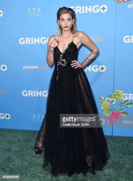 Actress Paris Jackson attends the World Premiere of 'Gringo' at Regal LA Live Stadium 14 on March 6 2018 in Los Angeles California