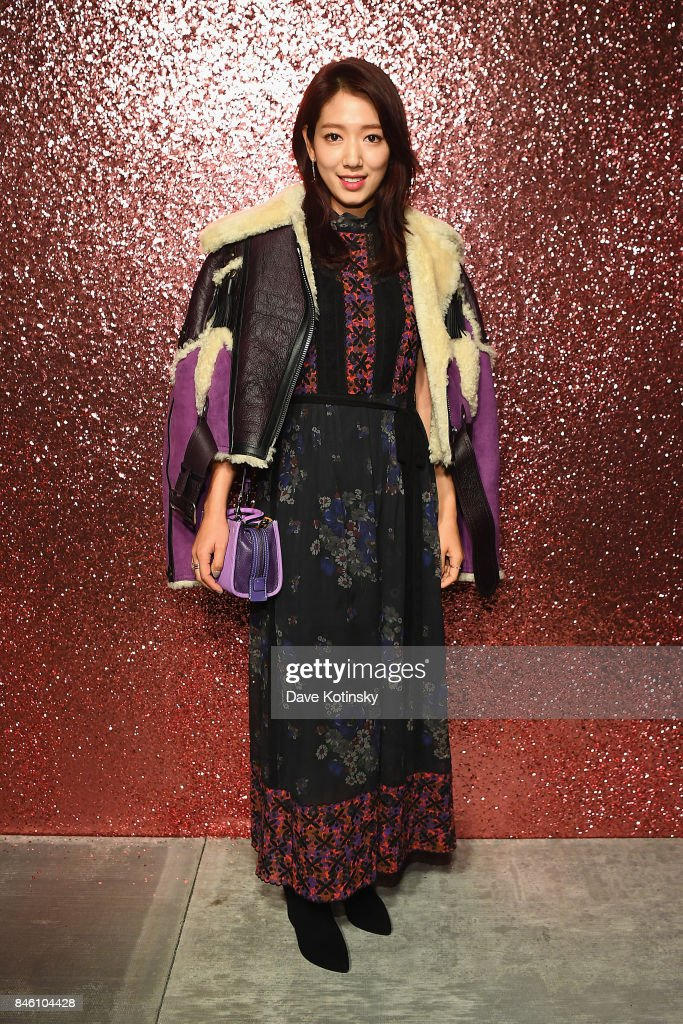 Actress Park Shin-hye poses for a portrait during Coach Spring 2018 Fashion Show during New York Fashion Week at Basketball City - Pier 36 - South Street on September 12, 2017 in New York City.