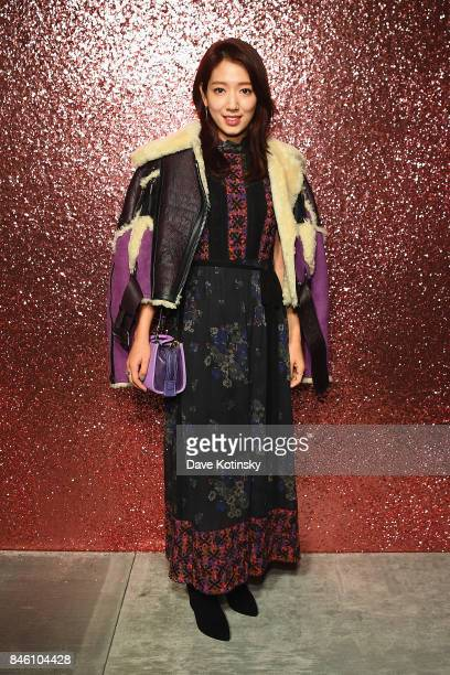 Actress Park Shinhye poses for a portrait during Coach Spring 2018 Fashion Show during New York Fashion Week at Basketball City Pier 36 South Street...