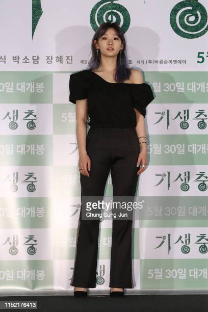 Actress Park SoDam attends the press conference for Parasite on May 28 2019 in Seoul South Korea