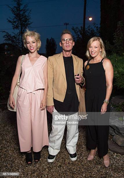 Actress Parker Posey and singer Todd Thomas and Cindy Sherman attends the Rachel Comey Spring 2016 show during New York Fashion Week at Pioneer Works...