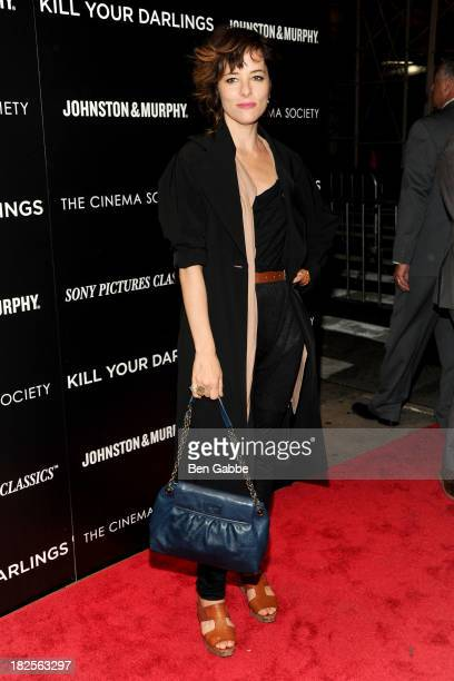 """Actress Parker Posey attends The Cinema Society and Johnston & Murphy host a screening of Sony Pictures Classics' """"Kill Your Darlings"""" at the Paris..."""