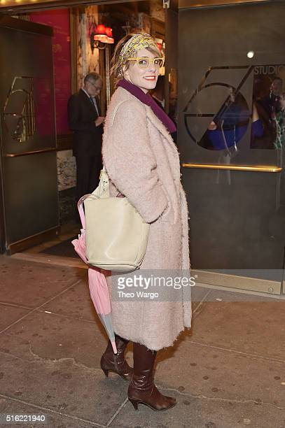 Actress Parker Posey attends the opening night of 'She Loves Me' on Broadway at Studio 54 on March 17 2016 in New York City