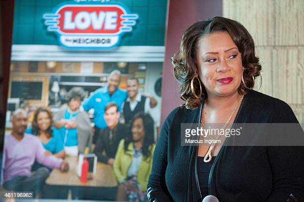Actress Partice Lovely attends a press lunch with the cast of Tyler Perry's The Haves The Have Nots Love Thy Neighbor at the Twelve Hotel on January...