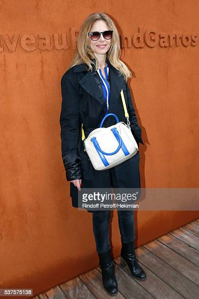 Actress Pascale Arbillot attends Day Twelve of the 2016 French Tennis Open at Roland Garros on June 2 2016 in Paris France