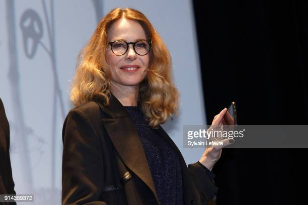 Actress Pascale Arbillot attends the closing ceremony of the 25th Gerardmer Fantastic Film Festival on February 4 2018 in Gerardmer France