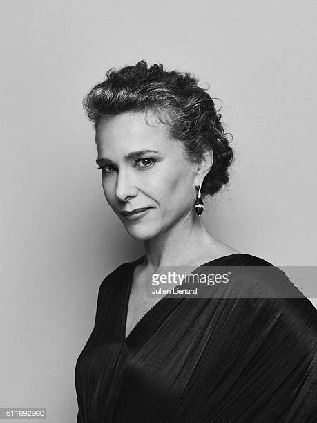 Actress Pascale Arbillot is photographed for for Self Assignment on February 2 2016 in Paris France