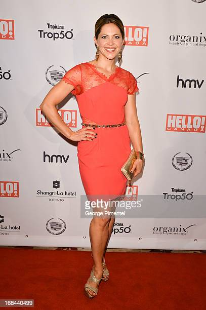 Actress Pascale Hutton arrives at Hello Canada gala celebrating Canada's 50 most beautiful at ShangriLa Hotel on May 9 2013 in Toronto Canada