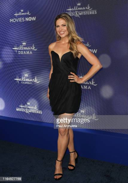 Actress Pascale Hutton attends the Hallmark Channel and Hallmark Movies Mysteries summer 2019 TCA press tour Event at Private Residence on July 26...