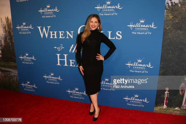 Actress Pascale Hutton attends the Hallmark Channel's When Calls The Heart season 7 celebration dinner and panel at Beverly Wilshire A Four Seasons...
