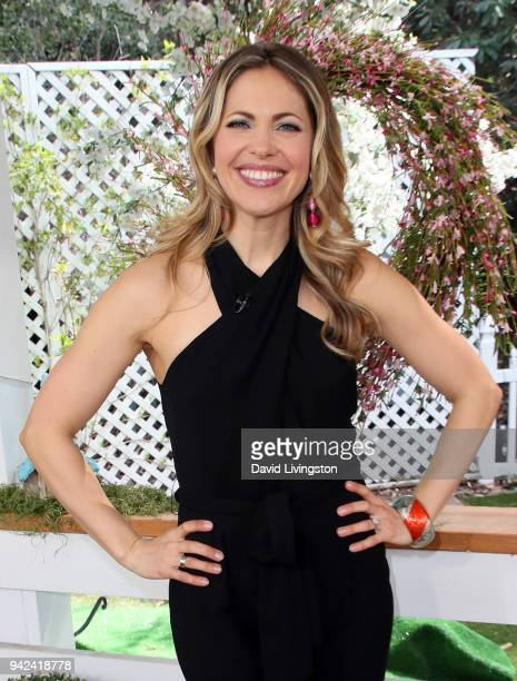 Actress Pascale Hutton visits Hallmark's Home Family at Universal Studios Hollywood on April 5 2018 in Universal City California