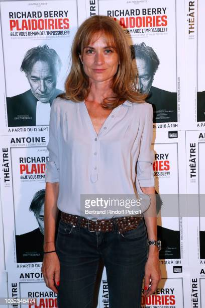 Actress Pascale Louange attends the Plaidoiries Theater Play Runthrough at Theatre Antoine on September 12 2018 in Paris France
