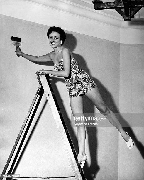 Actress Pascale Roberts posing in London United Kingdom circa 1950
