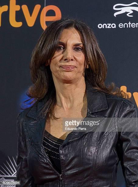 Actress Pastora Vega attends 'El Ministerio del Tiempo' second season premiere at Capitol cinema on February 11 2016 in Madrid Spain