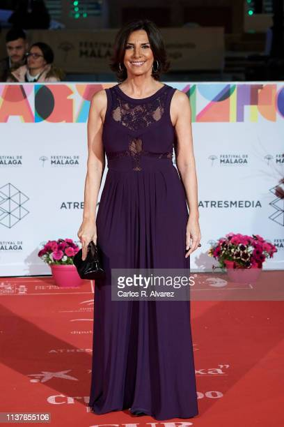 Actress Pastora Vega attends the 'Retrospeciva' award ceremony during the 22th Malaga Film Festival on March 22 2019 in Malaga Spain