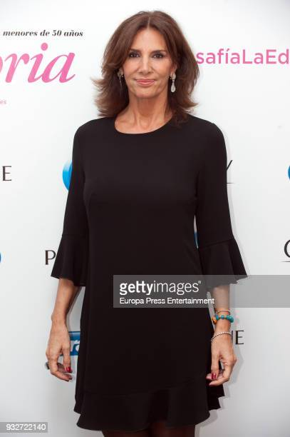 Actress Pastora Vega receives the Victoria award at Alma Club on March 15 2018 in Madrid Spain