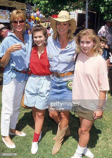 Actress Pat Klous actress Tracey Gold actress Joanna Kerns and actress Missy Gold attend the 11th Annual Great Coldwater Canyon Chili Cookoff to...