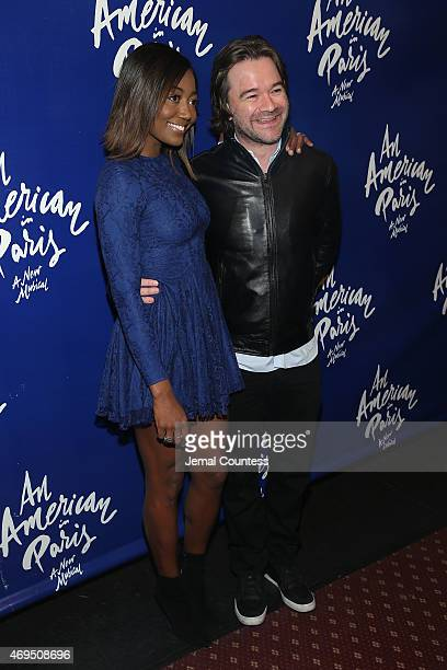 Actress Patina Miller and David Mars attend An American In Paris Broadway opening night at Palace Theatre on April 12 2015 in New York City