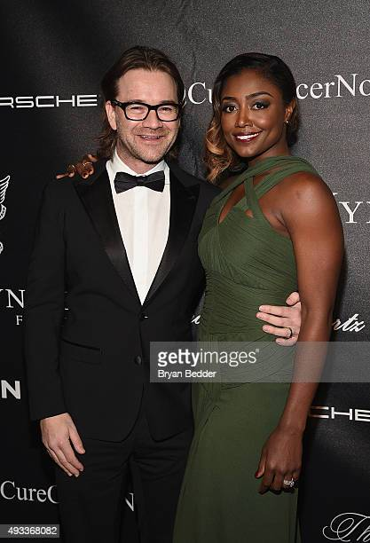 Actress Patina Miller and David Mars attend Angel Ball 2015 hosted by Gabrielle's Angel Foundation at Cipriani Wall Street on October 19 2015 in New...