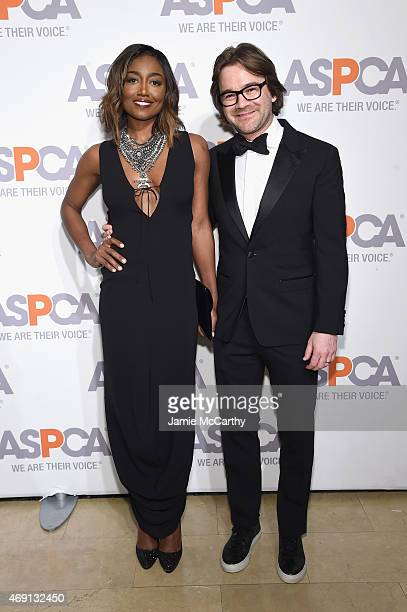 Actress Patina Miller and David Mars attend ASPCA'S 18th Annual Bergh Ball honoring Edie Falco and Hilary Swank at The Plaza Hotel on April 9 2015 in...
