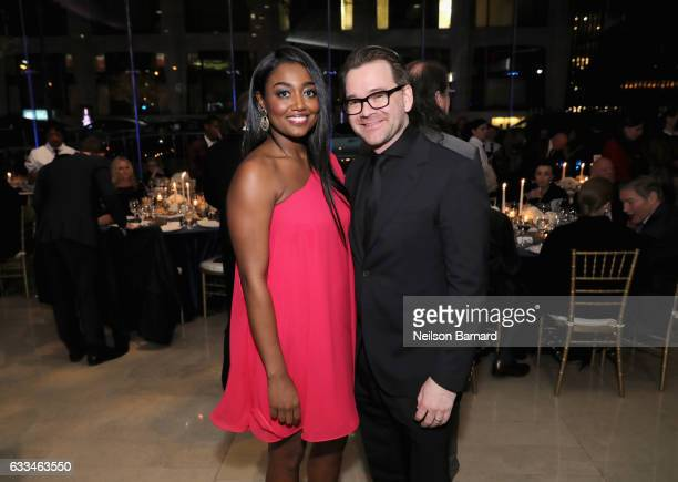 Actress Patina Miller and David Mars attend Lincoln Center's American Songbook Gala at Alice Tully Hall on February 1 2017 in New York City