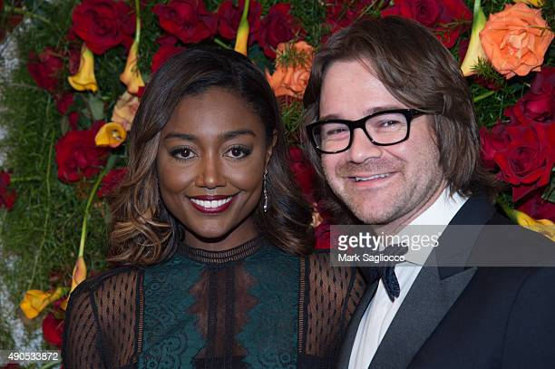 Actress Patina Miller and David Mars attend the 2015 American Theatre Wing's Gala at The Plaza Hotel on September 28 2015 in New York City