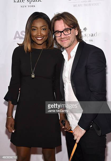 Actress Patina Miller and David Mars attend the ASPCA Young Friends benefit at IAC Building on October 15 2015 in New York City