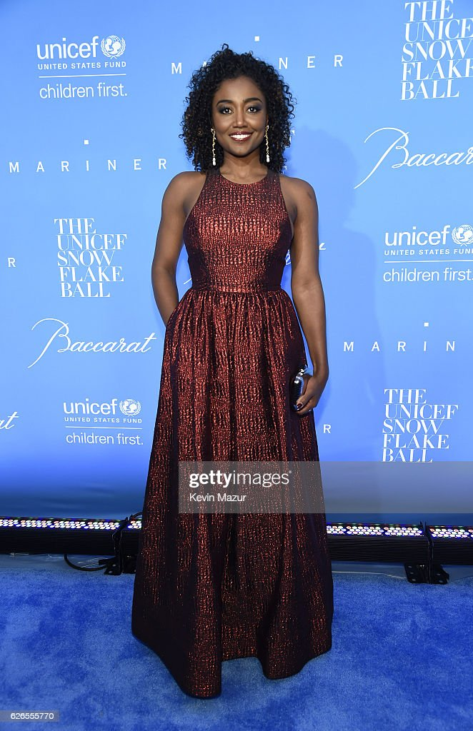 Actress Patina Miller attends the 12th annual UNICEF Snowflake Ball at Cipriani Wall Street on November 29, 2016 in New York City.
