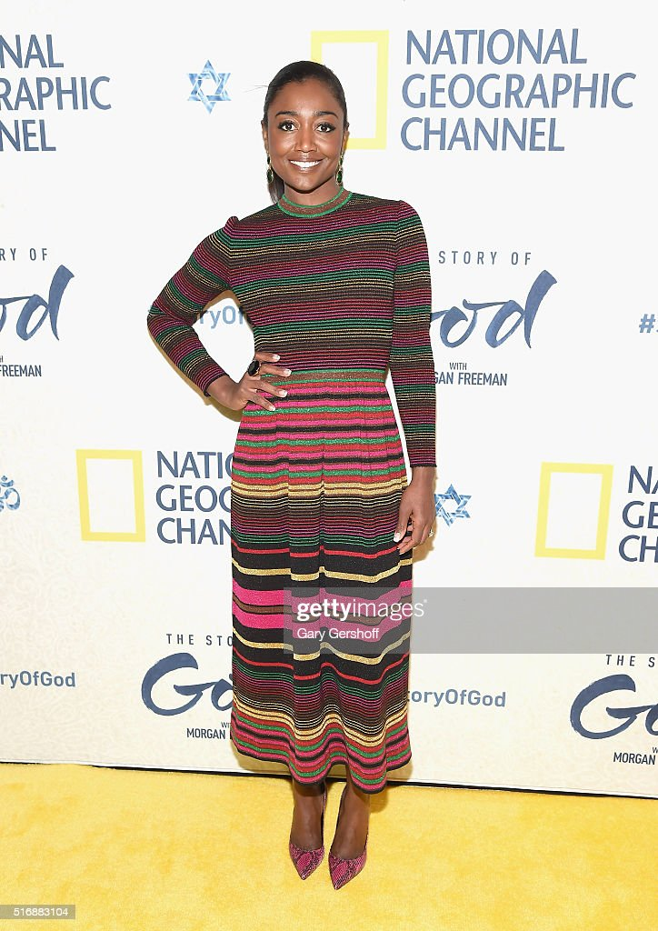 Actress Patina Miller attends the National Geographic 'The Story Of God' with Morgan Freeman world premiere at Jazz at Lincoln Center on March 21, 2016 in New York City.