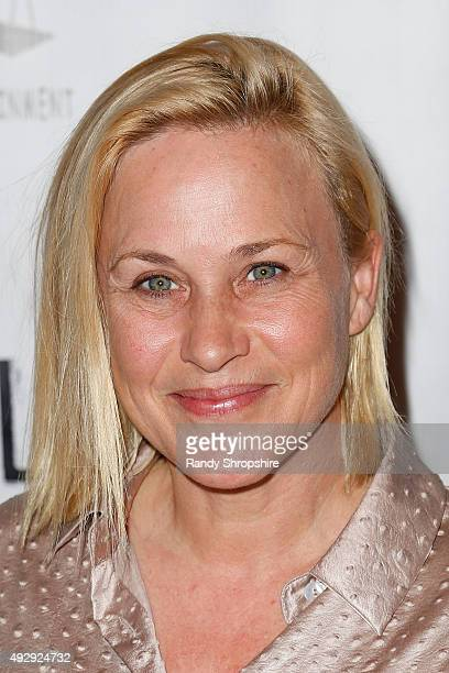 Actress Patrica Arquette arrives to the opening night of Sir Arthur Conan Doyle's Sherlock Holmes at The Ricardo Montalban Theatre on October 15 2015...