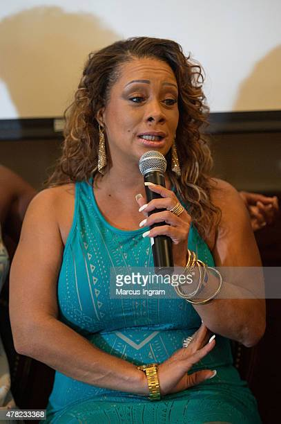 Actress Patrice Lovely attends the press reception with Tyler Perry's 'The Haves & The Have Nots' & 'Love Thy Neighbor' at Maggiano's on June 23,...
