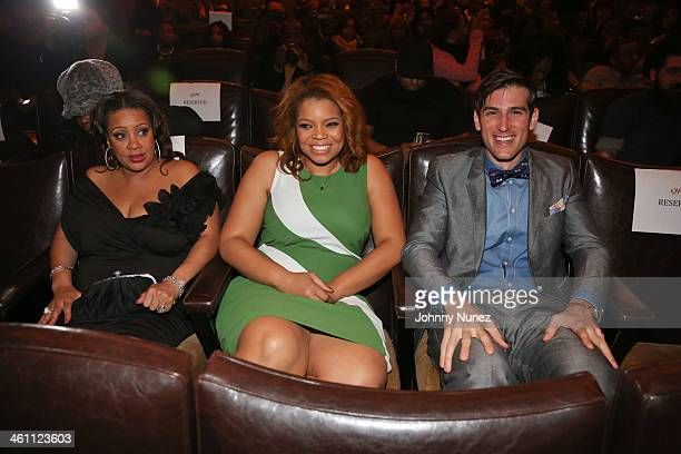 "Actress' Patrice Lovely, Kendra C. Johnson and actor Jonthan Chasen attend the ""The Have And Have Nots"" & ""Love Thy Neighbor"" Premiere at Tribeca..."