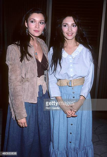 Actress Patrice Martinez and actress Benita Martinez attend the Three Amigos Beverly Hills Premiere on December 10 1986 at the Samuel Goldwyn Theatre...