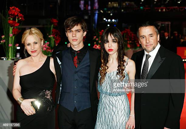 Actress Patricia Arquette actor Ellar Coltrane actress Lorelei Linklater and director Richard Linklater attend the 'Boyhood' premiere during 64th...