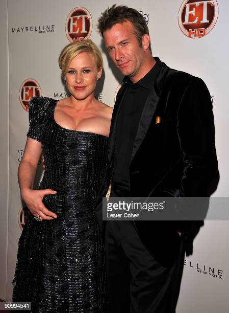 Actress Patricia Arquette and actor Thomas Jane arrive at the 13th Annual Entertainment Tonight and People Magazine Emmys After Party at the Vibiana...