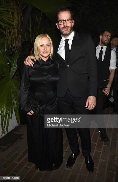 Actress Patricia Arquette and artist Eric White attend VANITY FAIR and Barneys New York Dinner benefiting OXFAM hosted by Rooney Mara at Chateau...
