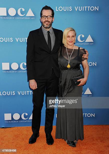 Actress Patricia Arquette and Eric White arrive at the 2015 MOCA Gala presented by Louis Vuitton at The Geffen Contemporary at MOCA on May 30 2015 in...
