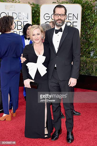 Actress Patricia Arquette and Eric White attend the 73rd Annual Golden Globe Awards held at the Beverly Hilton Hotel on January 10 2016 in Beverly...