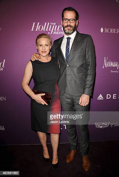 Actress Patricia Arquette and Eric White attend the Hollywood Reporter's 3rd annual Academy Awards nominees night at Spago on February 2 2015 in...