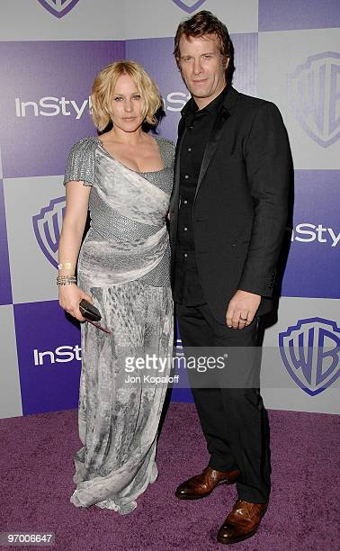 Actress Patricia Arquette and husband actor Thomas Jane arrive at the Warner Brothers/InStyle Golden Globes After Party at The Beverly Hilton Hotel...