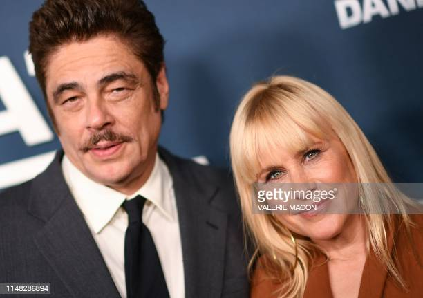 US actress Patricia Arquette and Puerto Rican actor Benicio del Toro attend the For Your Consideration red carpet event for the Showtime limited...